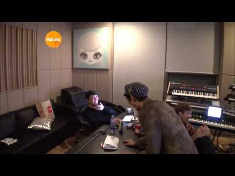 T.O.P. Recording With G-Dragon Teddy and Kush! [HD] [ENG] : BIGBANG