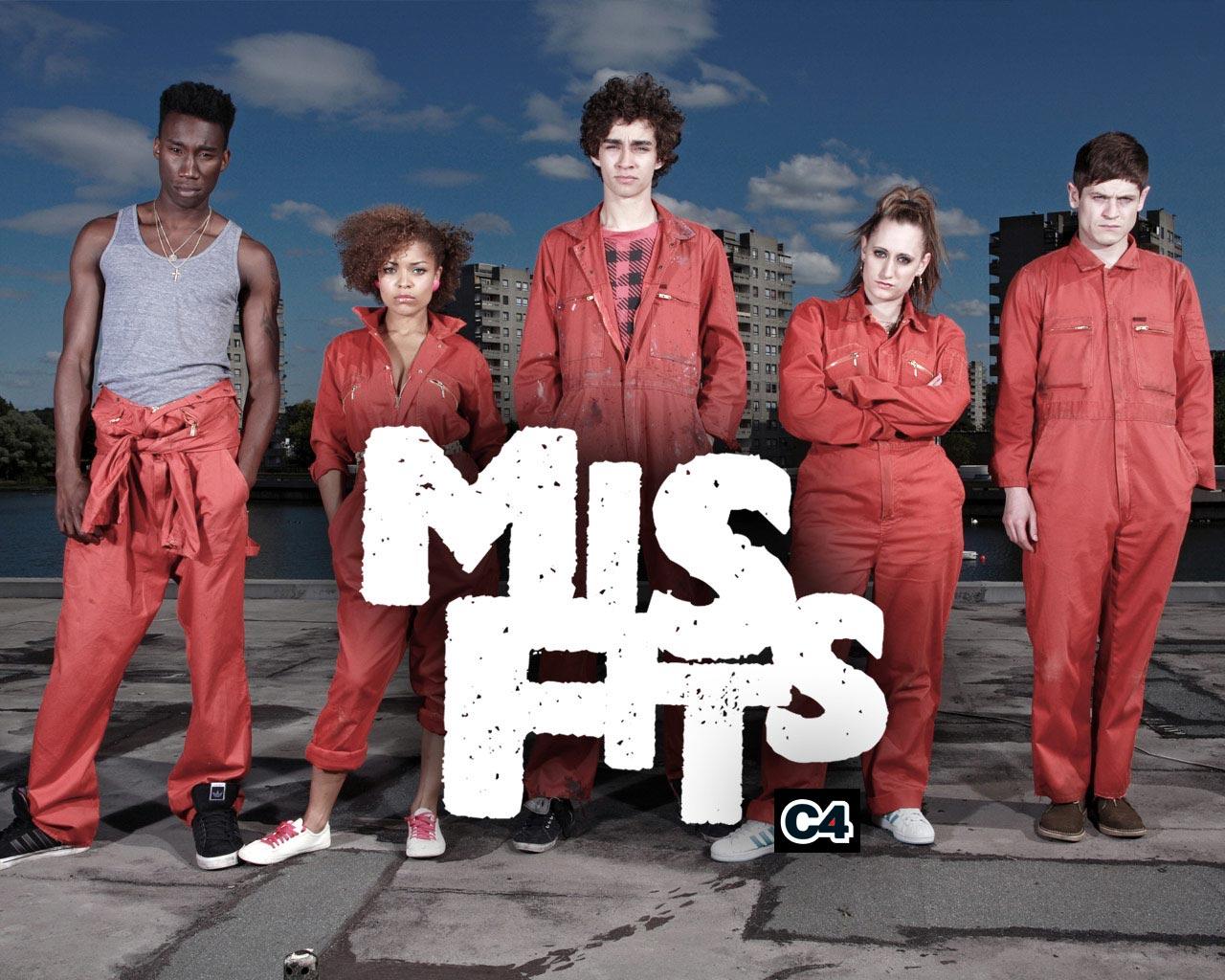 Znalezione obrazy dla zapytania the misfits serial