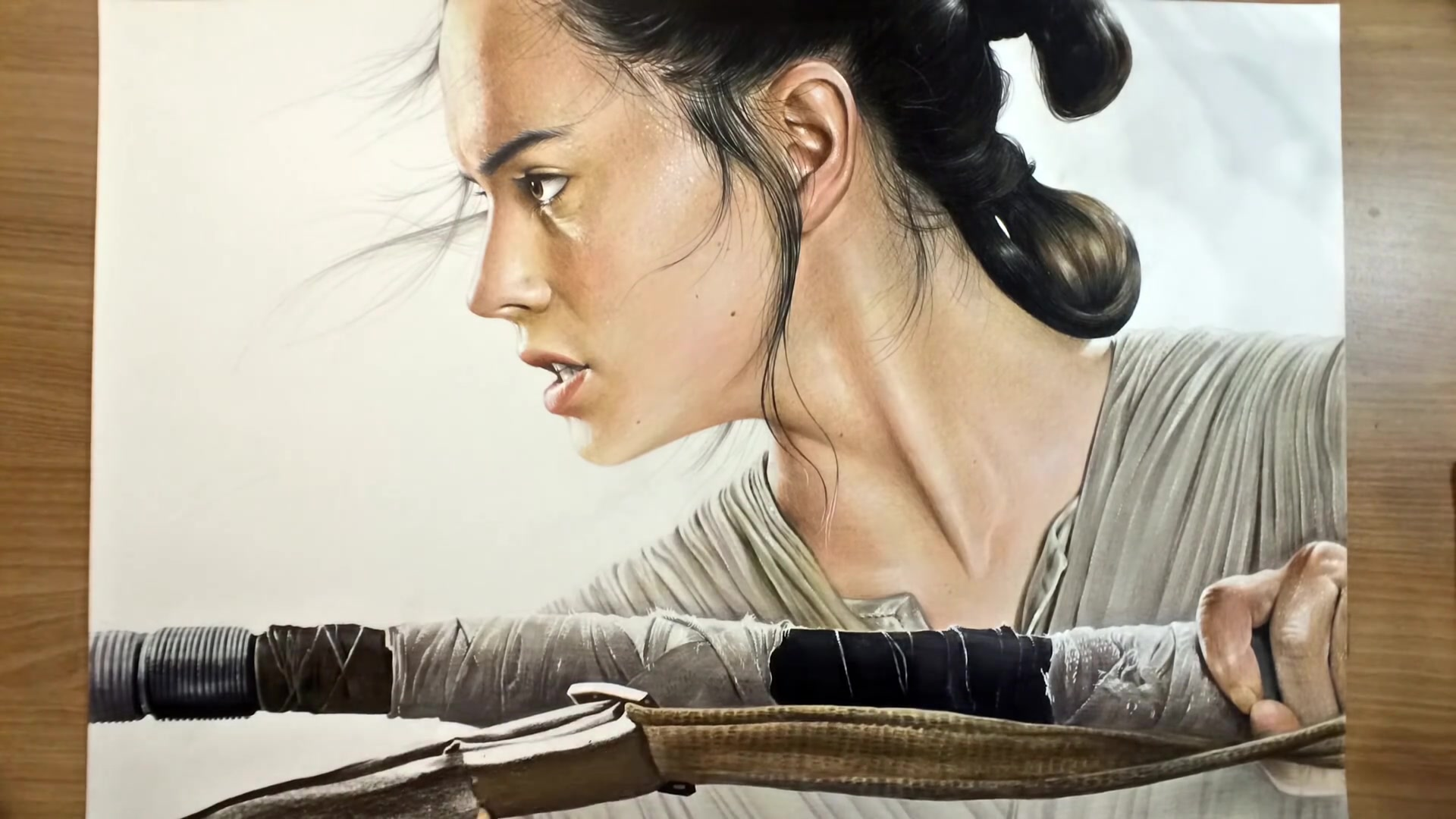 Drawing Hands Episode 91: Speed Drawing Rey From 'Star Wars'