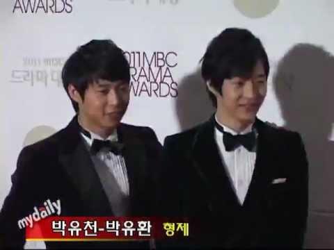 111230 JYJ's YUCHUN 유천, Yuhwan & KJW at Red Carpet MBC Drama Awards: JYJ (Jaejoong, Yoochun, Junsu)