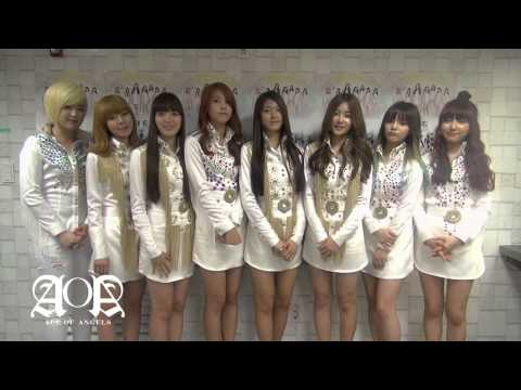 AOA 1st Greeting to fans!: AOA (Ace Of Angels)