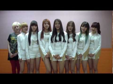 AOA Debut greeting message (Elvis): AOA (Ace Of Angels)