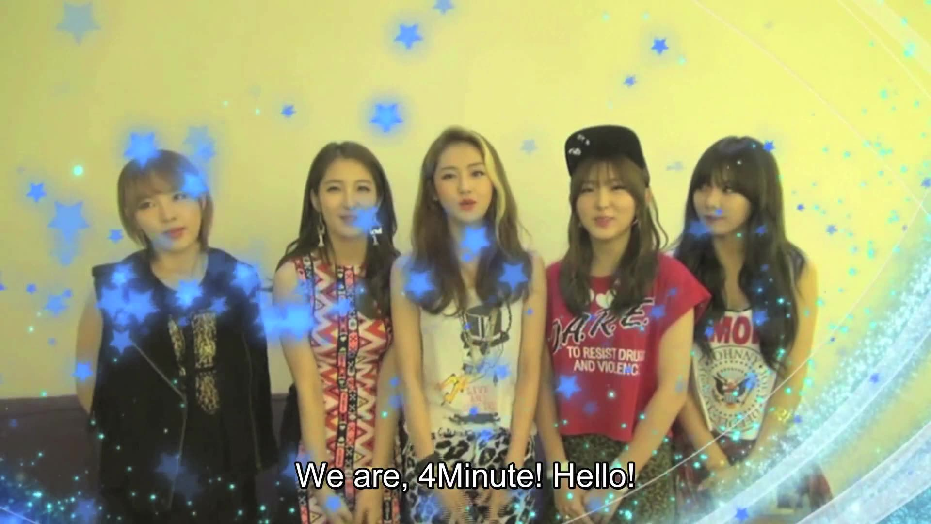 Greeting for Korean Music Wave in Singapore 2013: 4minute