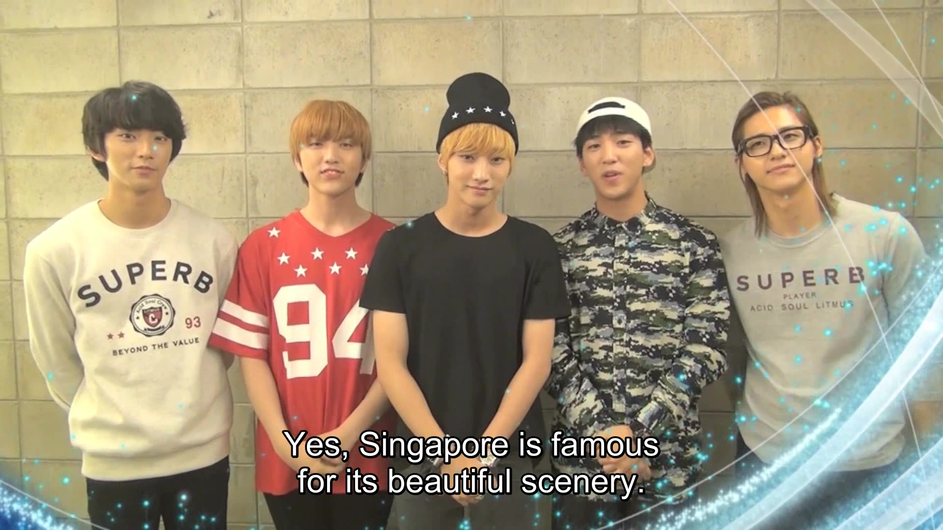Greeting for Korean Music Wave in Singapore 2013: B1A4