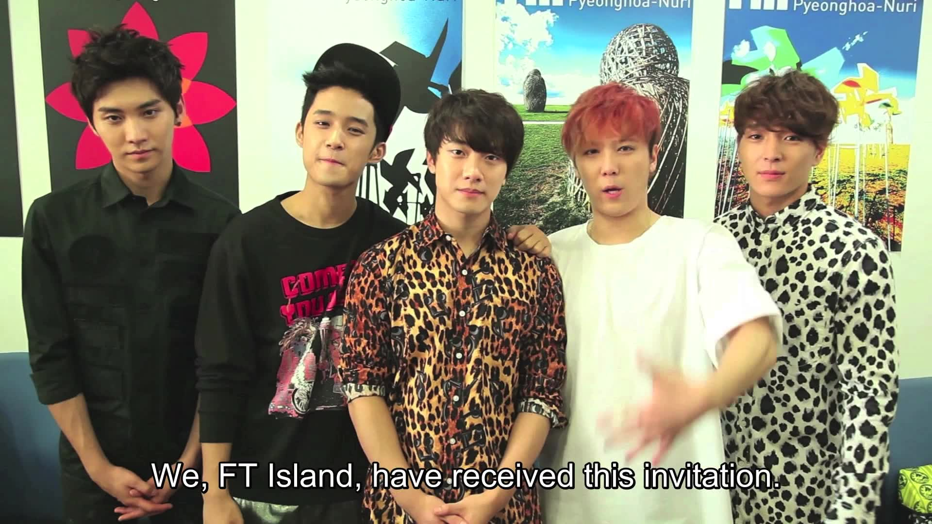 Greeting for Korean Music Wave in Singapore 2013: F.T. Island