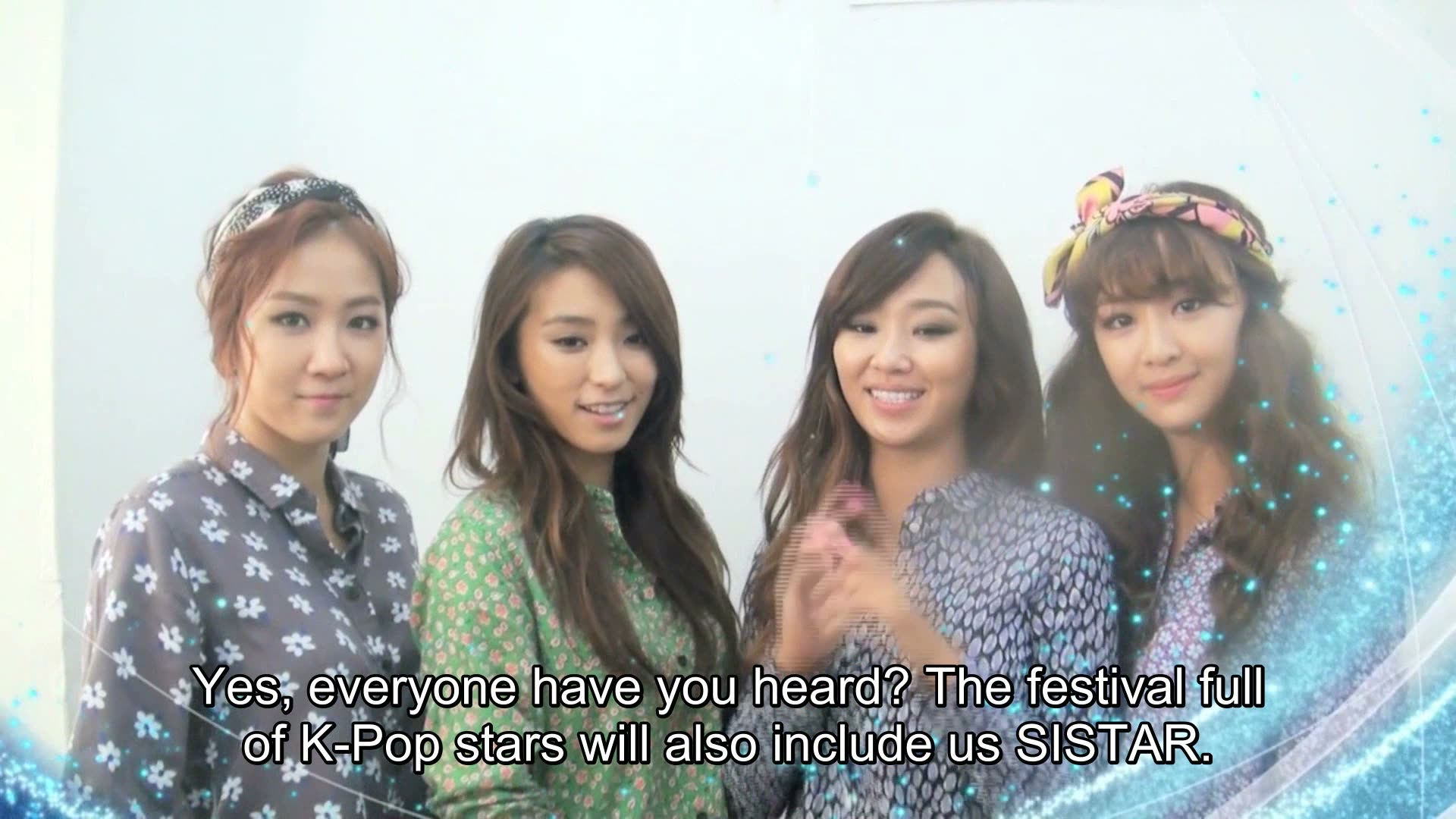 Greeting for Korean Music Wave in Singapore 2013: SISTAR