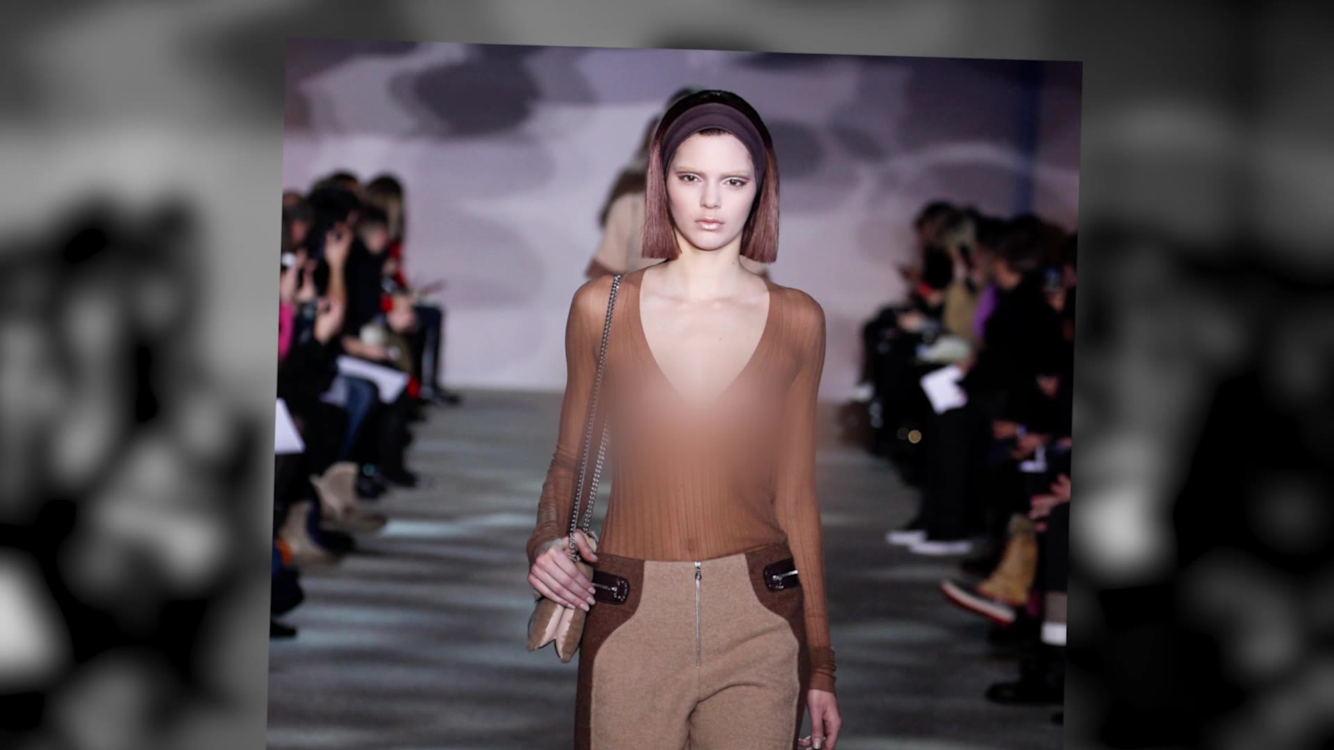 Kendall Jenner Flaunts Sheer Top On The Runway