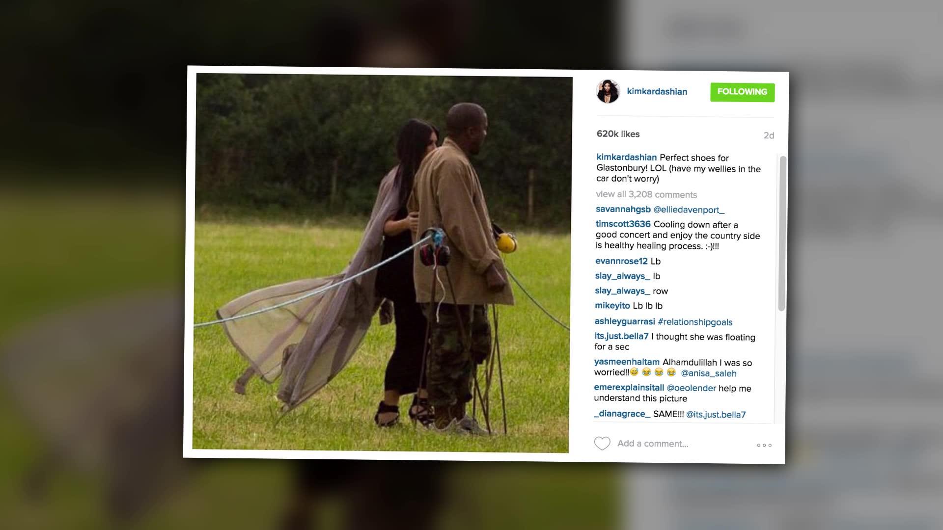 Kanye West And Kim Kardashian Lead The Glastonbury Fash Pack