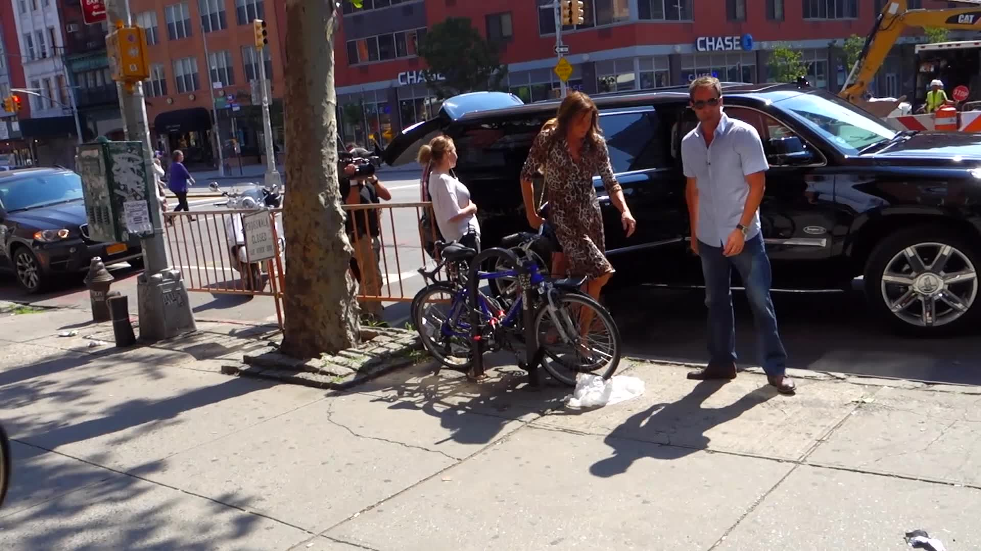 Caitlyn Jenner Makes NYC Roar in an Animal Print Dress and Sequin Skirt