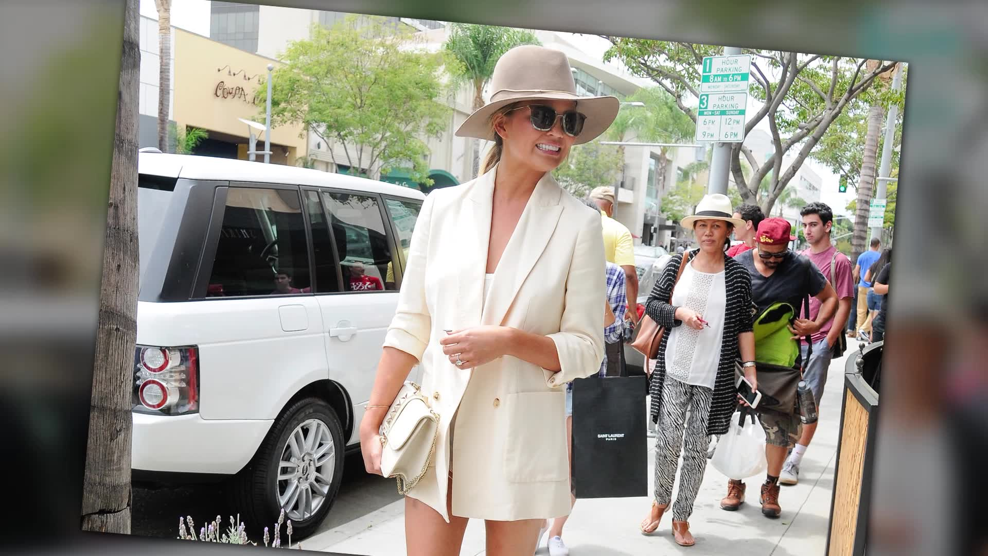 Chrissy Teigen Flashes Her Perfect Pins In Short Shorts