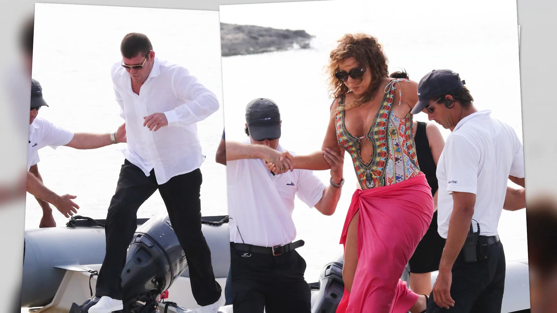 Mariah Carey Gets A Cheeky Squeeze As She Steps Off Super Yacht