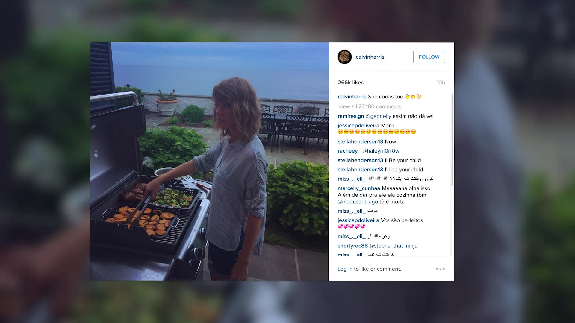 Taylor Swift Grills Up For the 4th of July