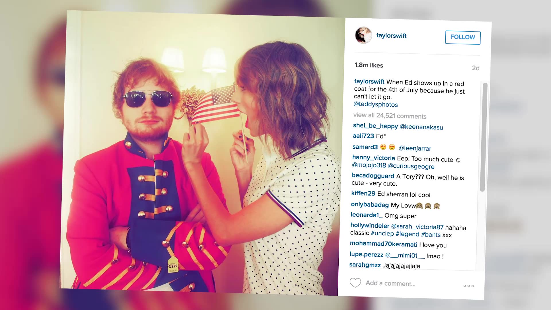 Taylor Swift Among Stars To Share Their Cute July 4th Snaps