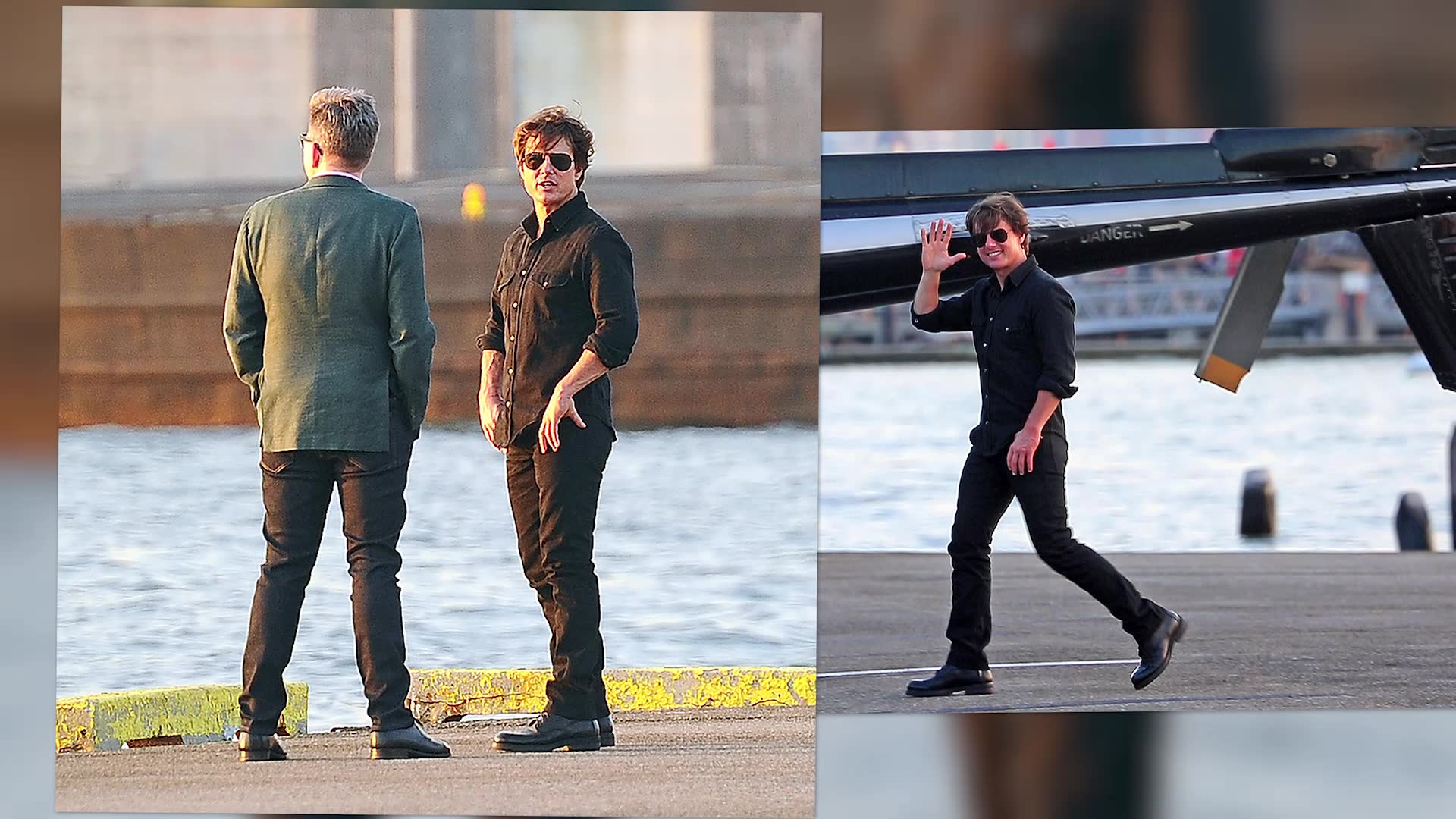 Tom Cruise Stops To Watch The Sunset Amid Mission Impossible Madness