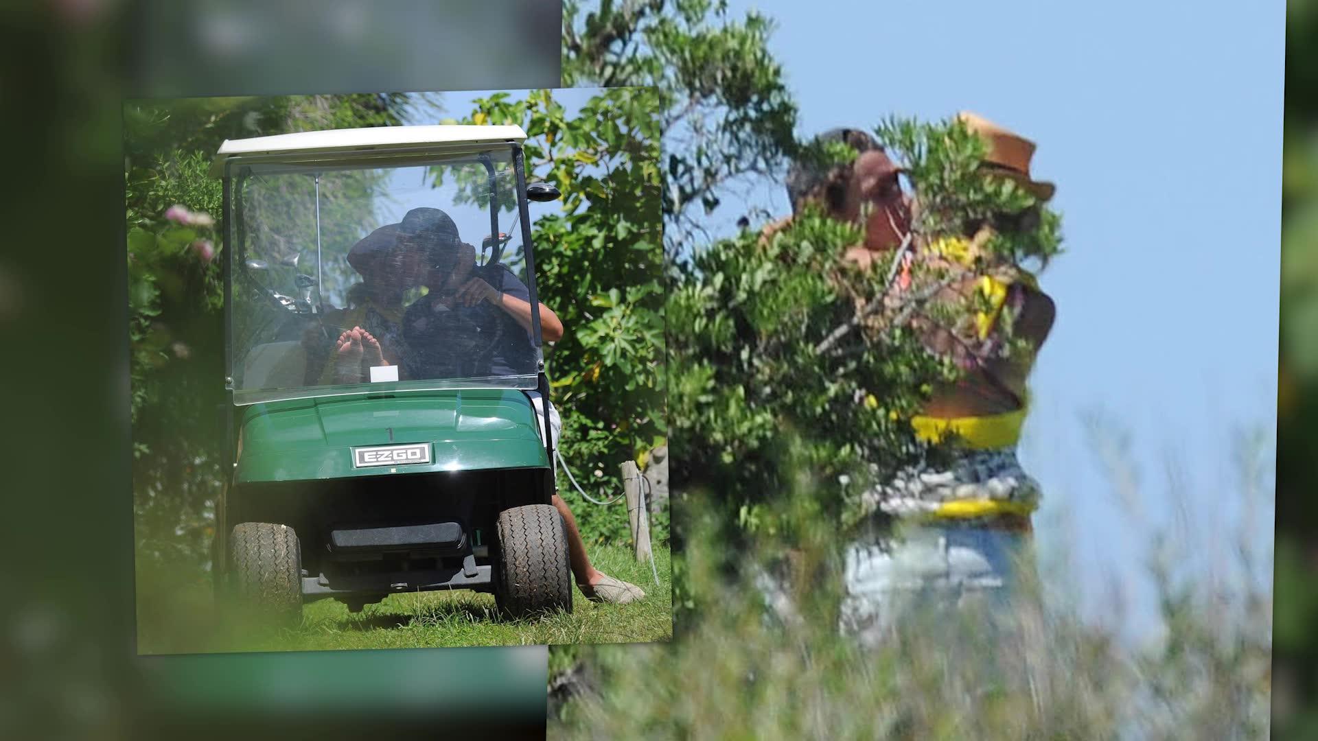Heidi Klum & Vito Schnabel Play A Round of Golf in Italy