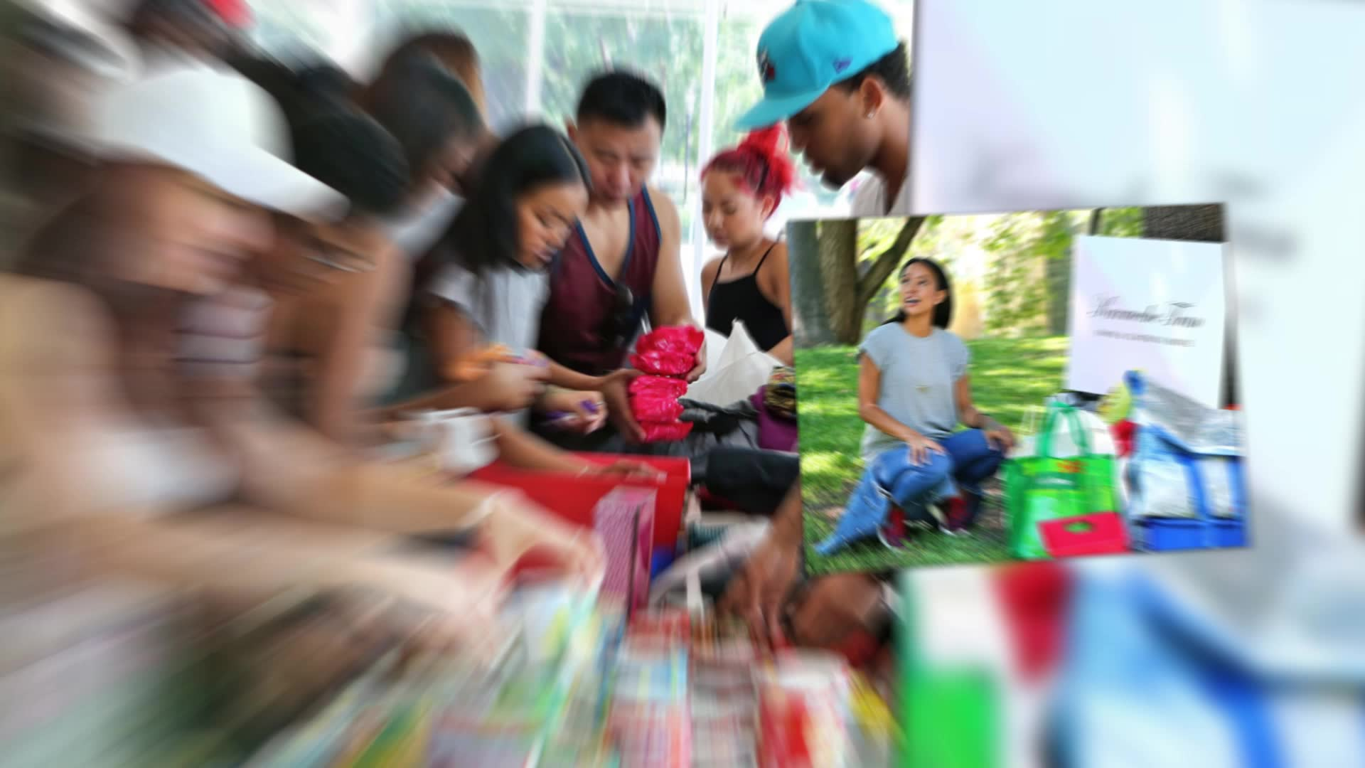 Karrueche Tran Holds A Food & Clothing Drive in Toronto
