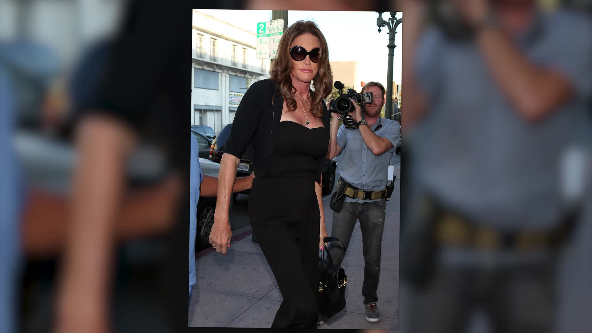 Caitlyn Jenner Wow In Black Jumpsuit