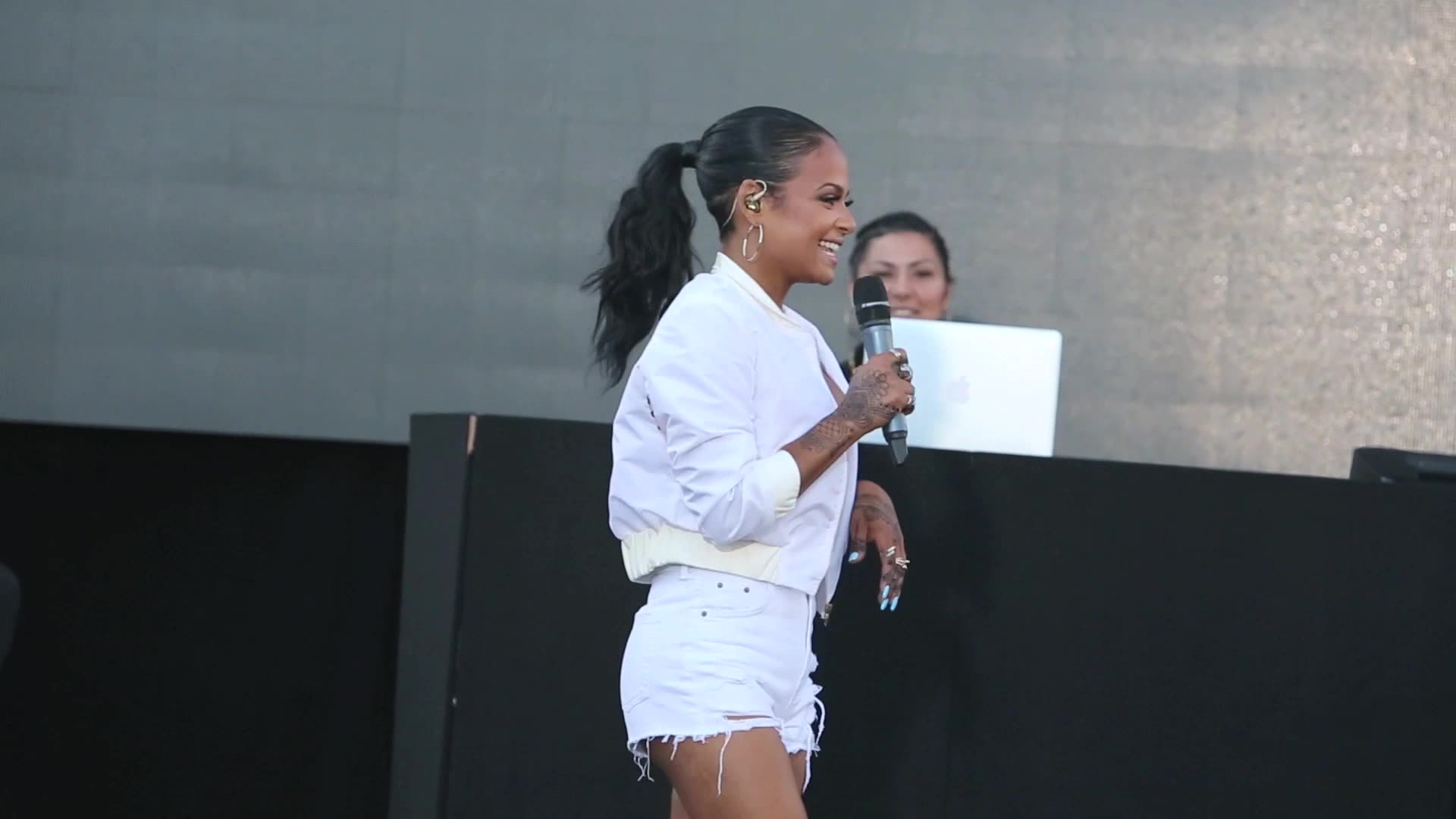 Christina Milian's Twerking Steals The Show At Her Block Party