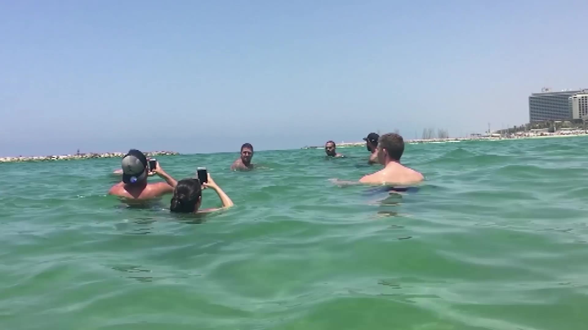Chris Brown Has Fun With Fans On The Beach in Israel