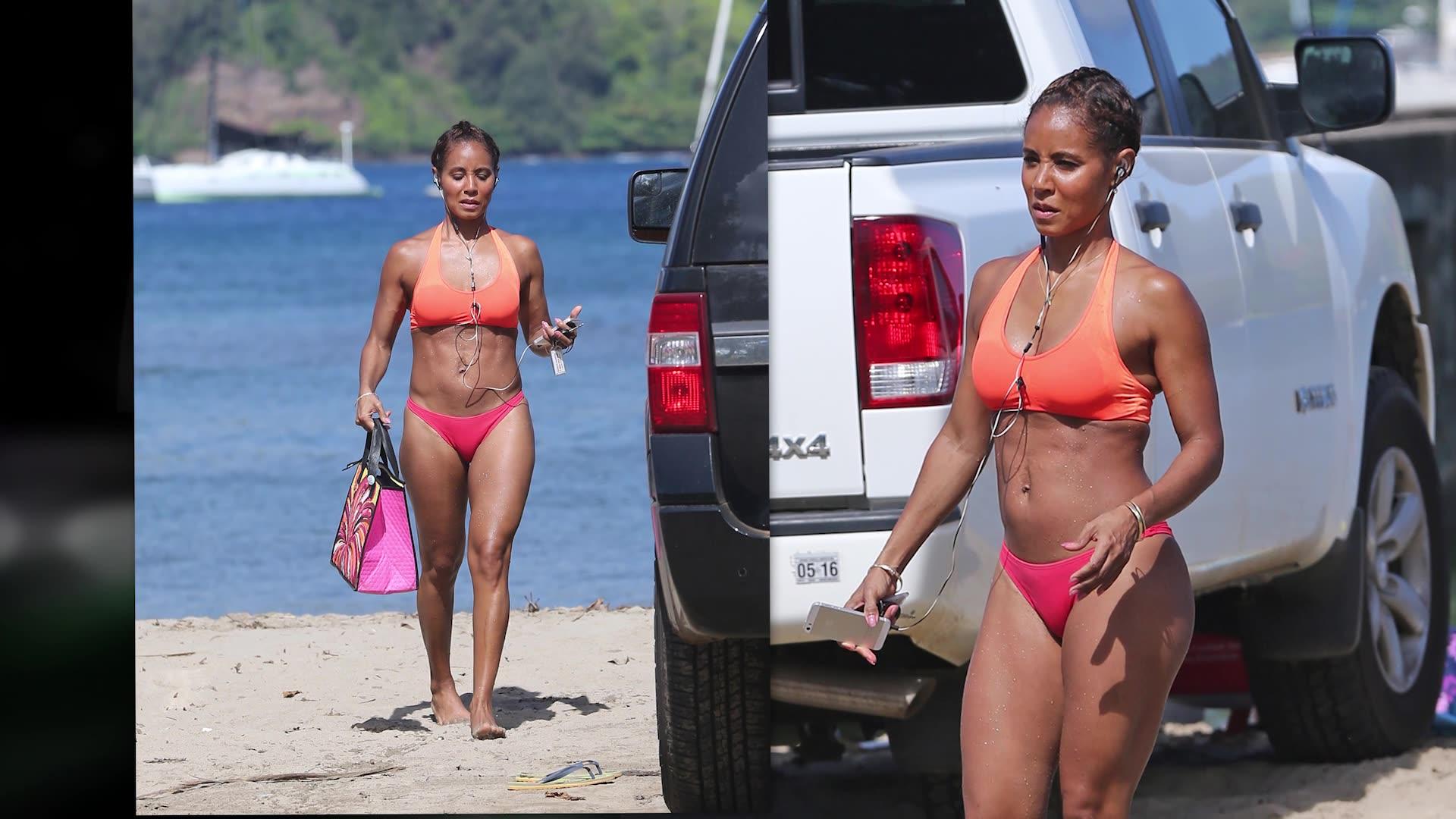 Bikini-Clad Jada Pinkett Smith Stays Active in Hawaii