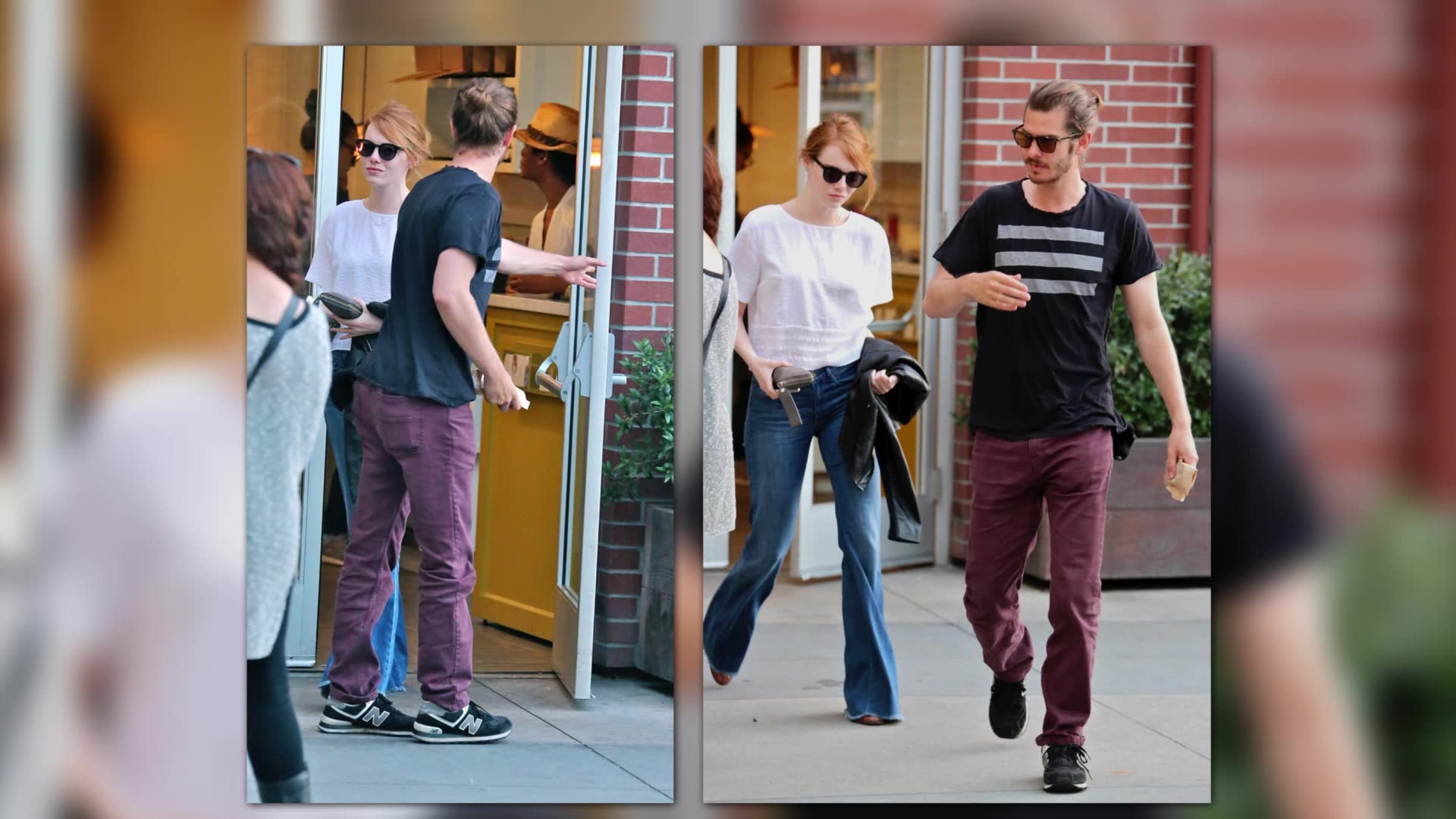 Emma Stone & Andrew Garfield Have A Romantic Dinner Date