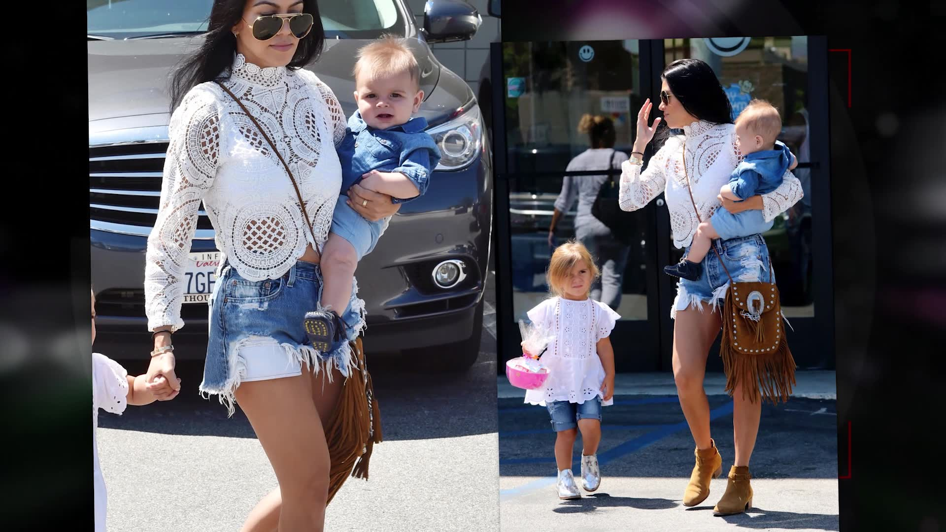 Kourtney Kardashian Rocks Chic Summer Outfit with Kids in LA