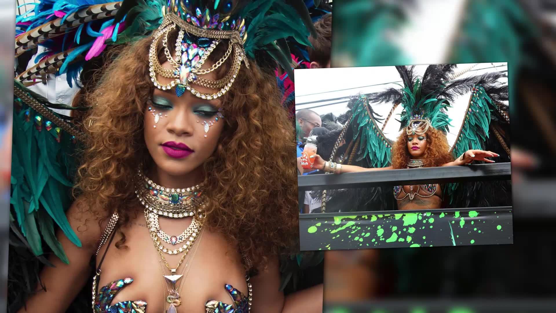 Rihanna Parties in Barbados