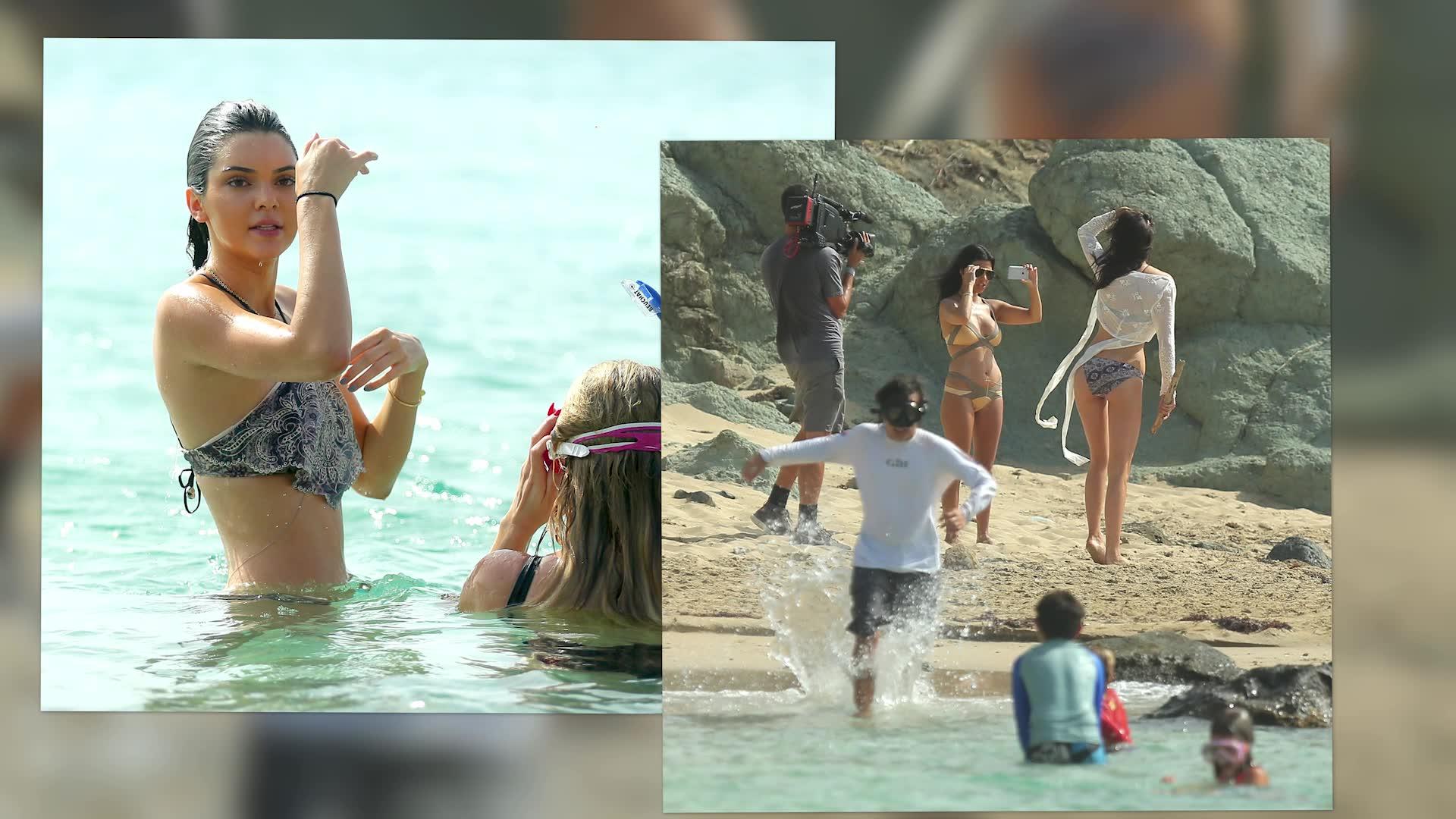 Bikini Clad Kendall Jenner Shows Off Her Paddle Boarding Skills