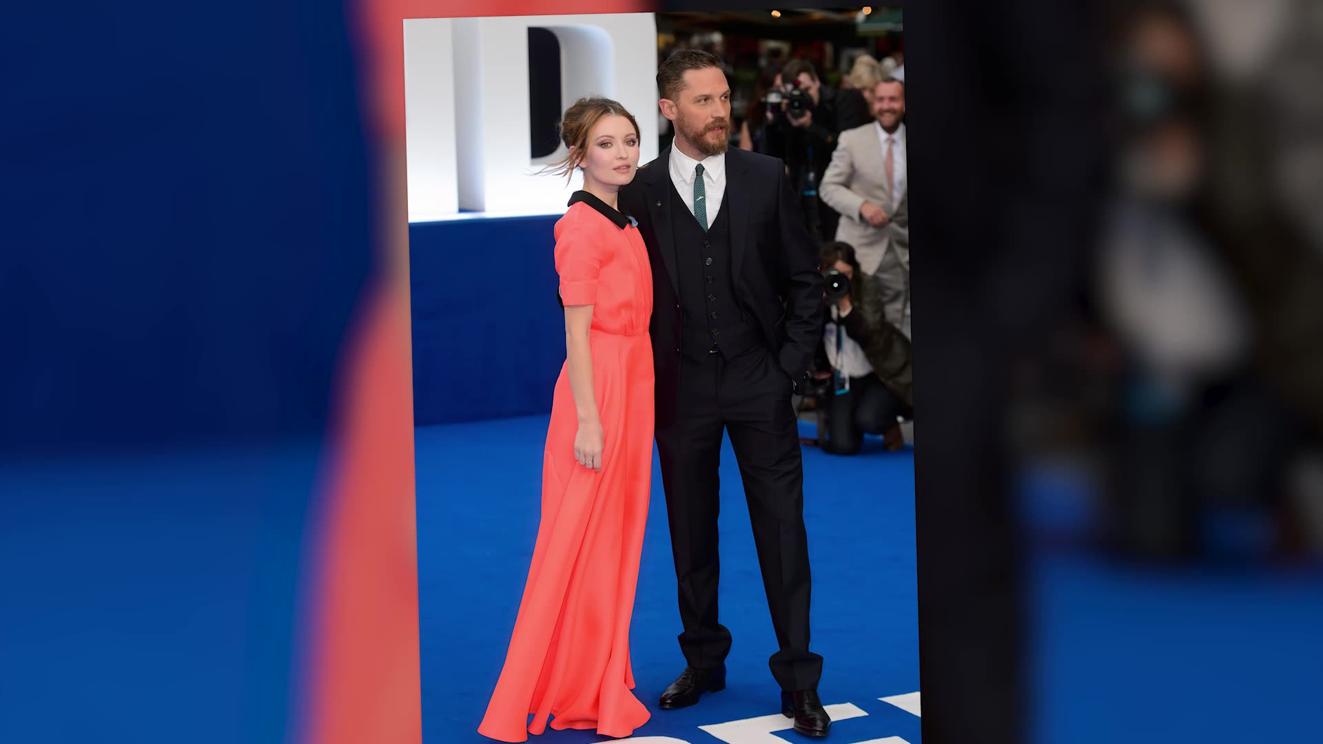Tom Hardy Joined By His Pregnant Wife At Legend Premiere