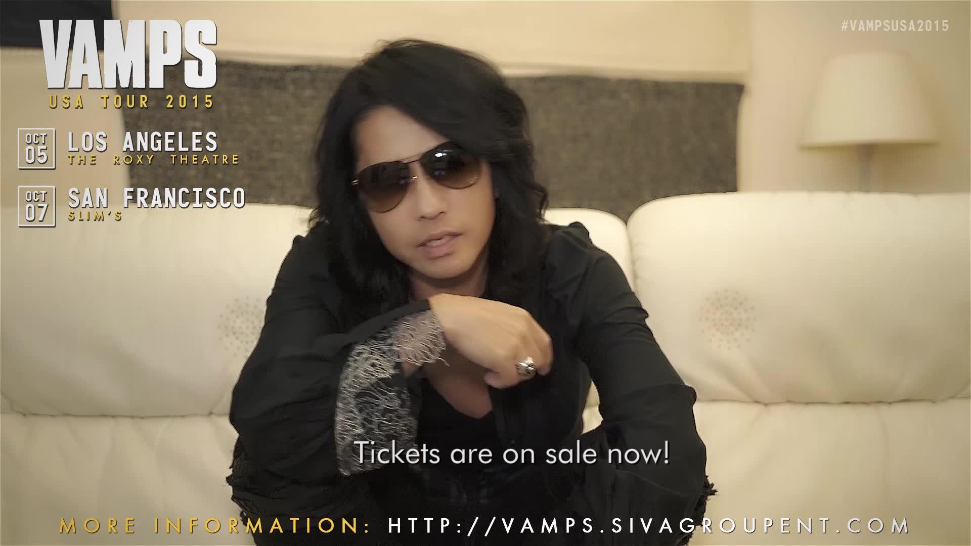 HYDE VAMPS Shoutout: VAMPS USA Tour 2015