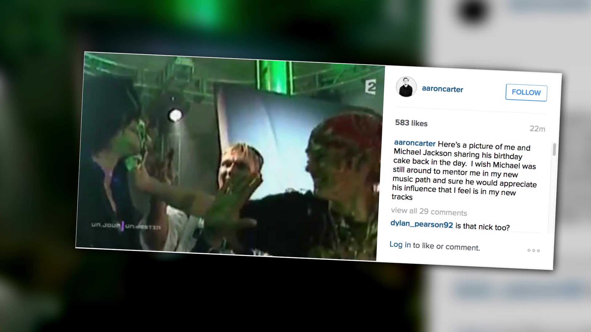 Aaron Carter Defends His Claim Michael Jackson Passed Down the Torch to Him