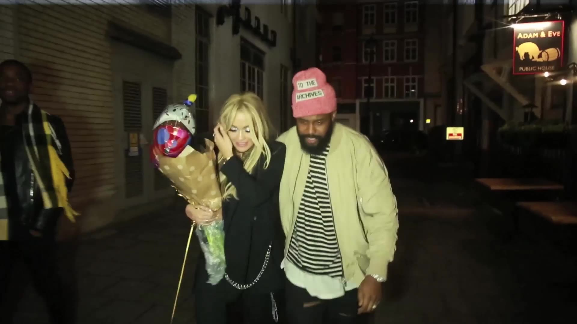 Rita Ora Almost Smashes Her Face on a Pole in London