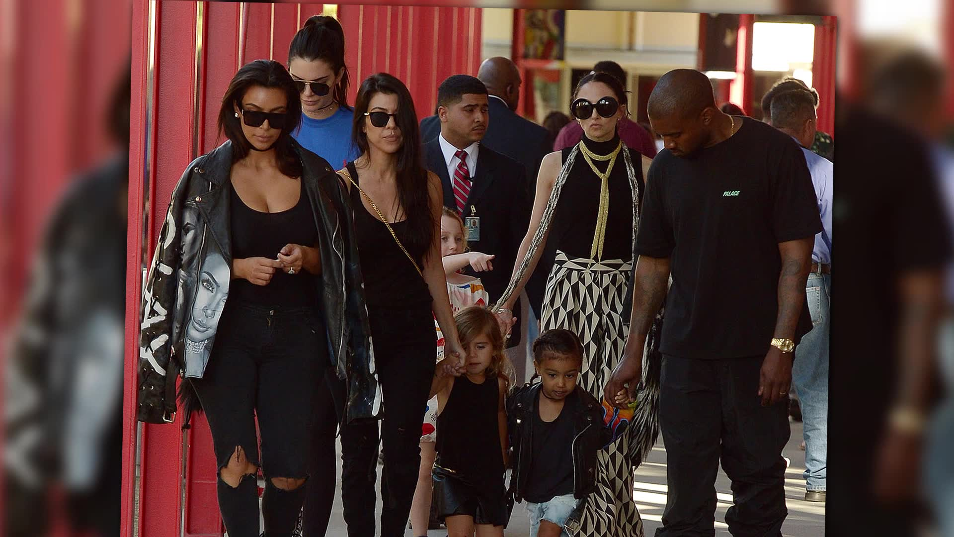Kanye West and Kardashian Family Check Out Art at LACMA
