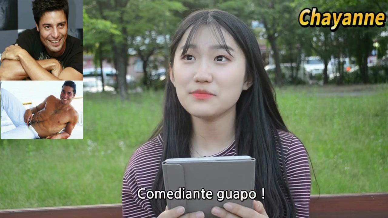 Corea del sur episode 1 korean girls react to latin male celebrities