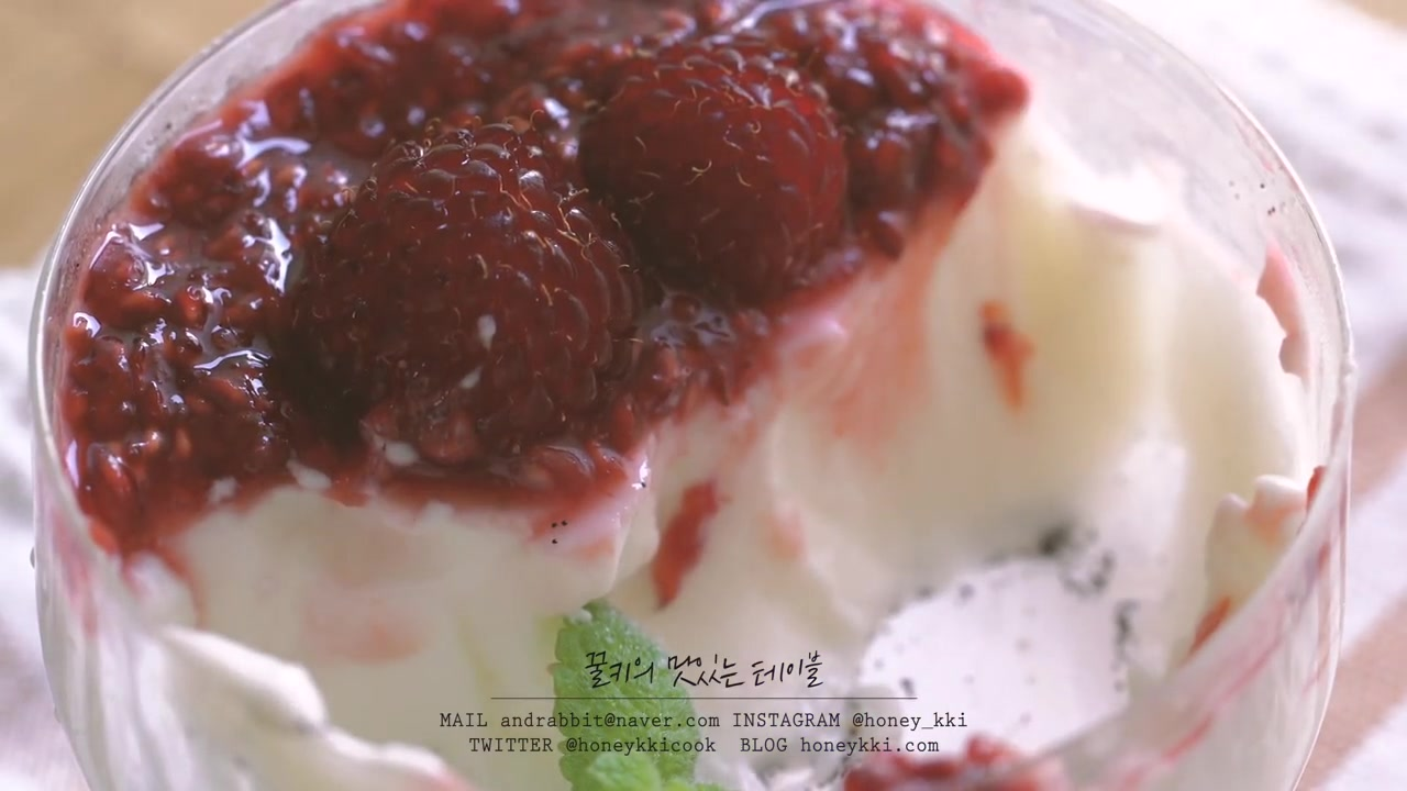 Honeykki Episode 9: Panna Cotta With Raspberry