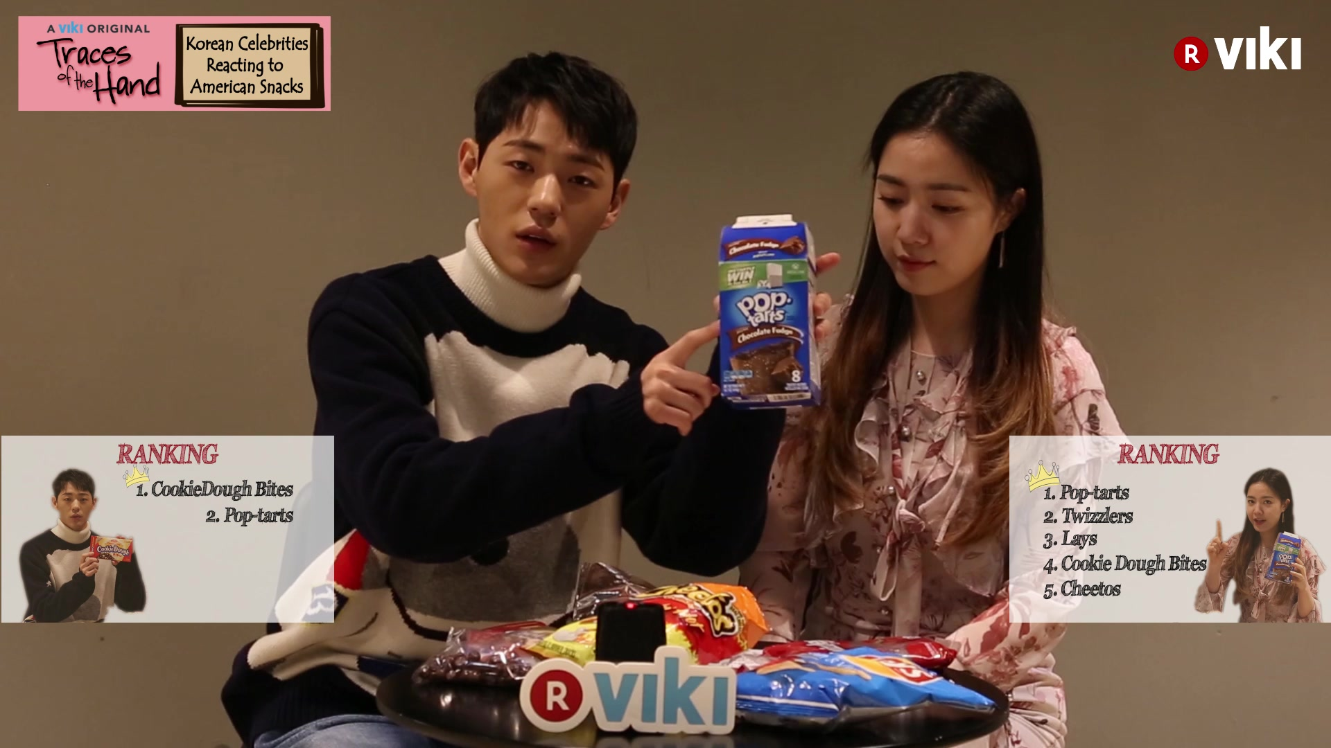 Korean Celebrities React to American Snacks: Traces of the Hand