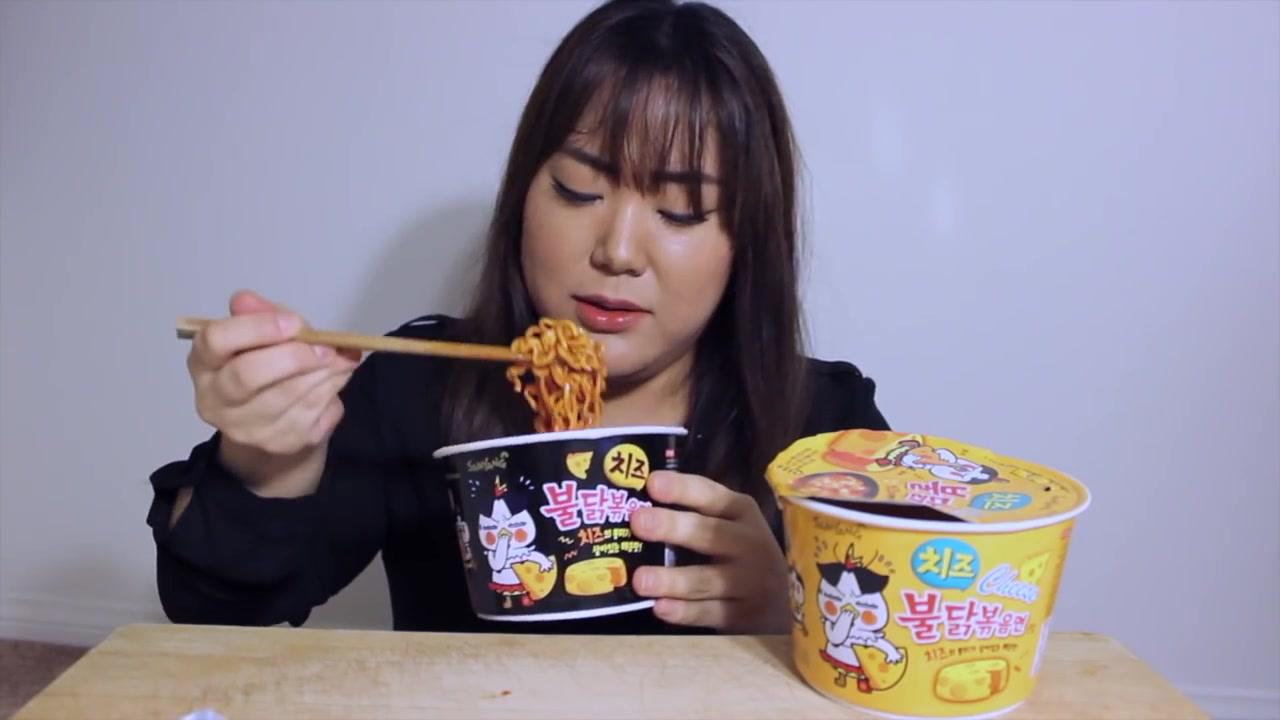 Angela Minji Kim Episode 1: Cheese Fire Noodles MUKBANG