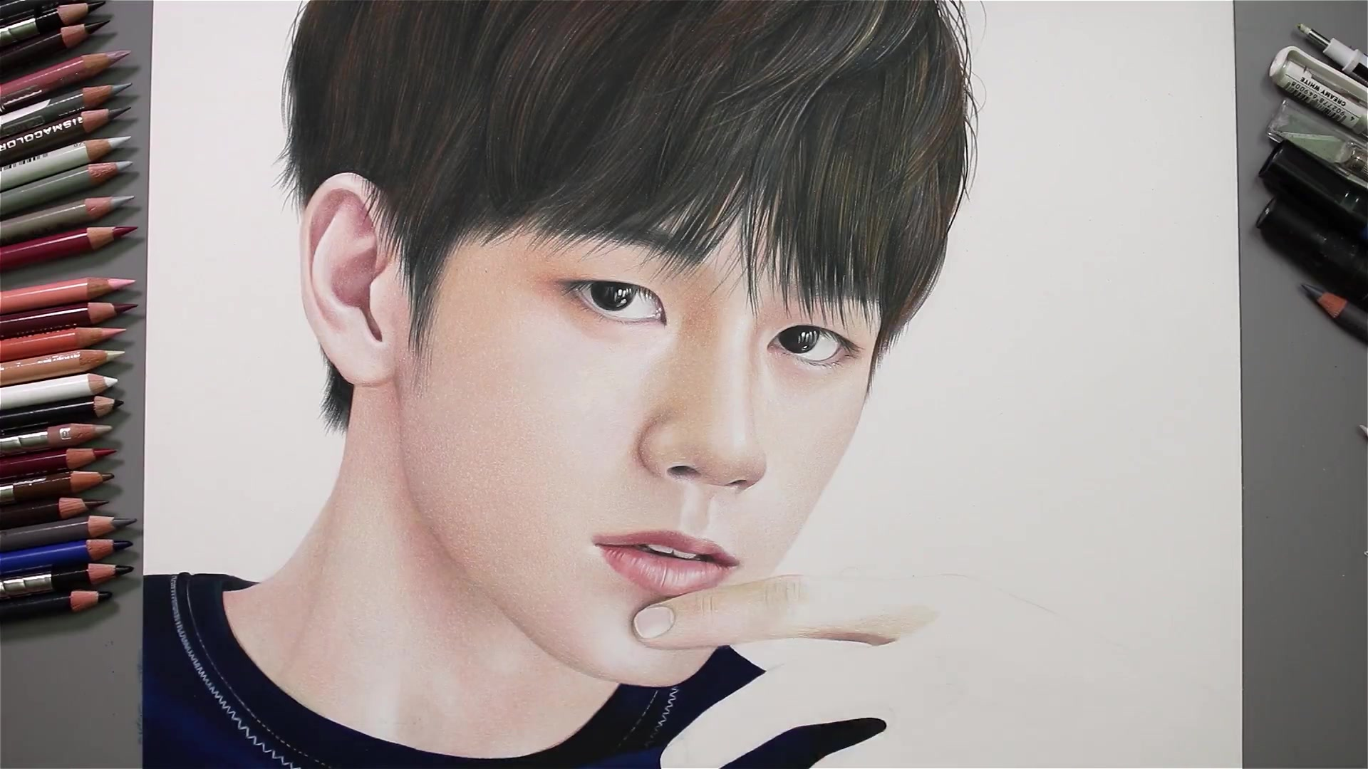 Drawing Hands Episode 53: Speed Drawing Wanna One's Ong Seong Woo