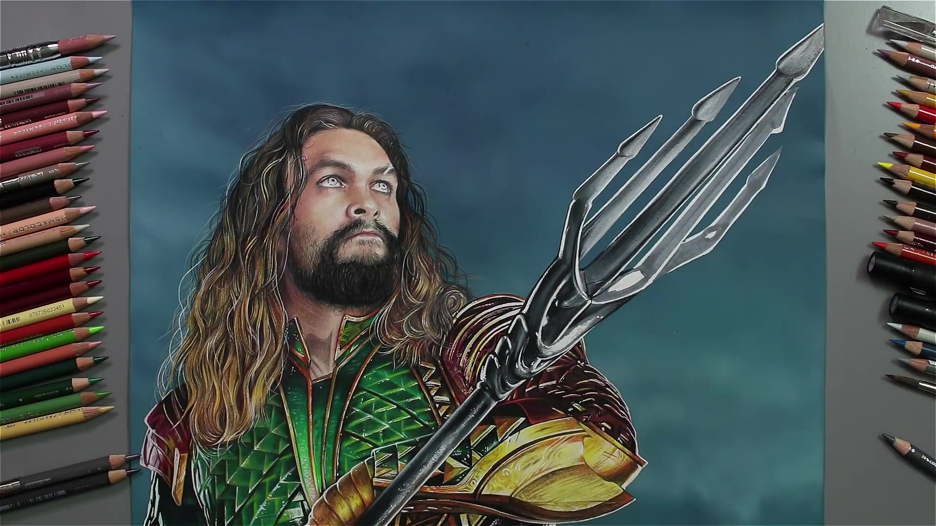 Drawing Hands Episode 61: Speed Drawing Jason Momoa as Justice League's Aquaman