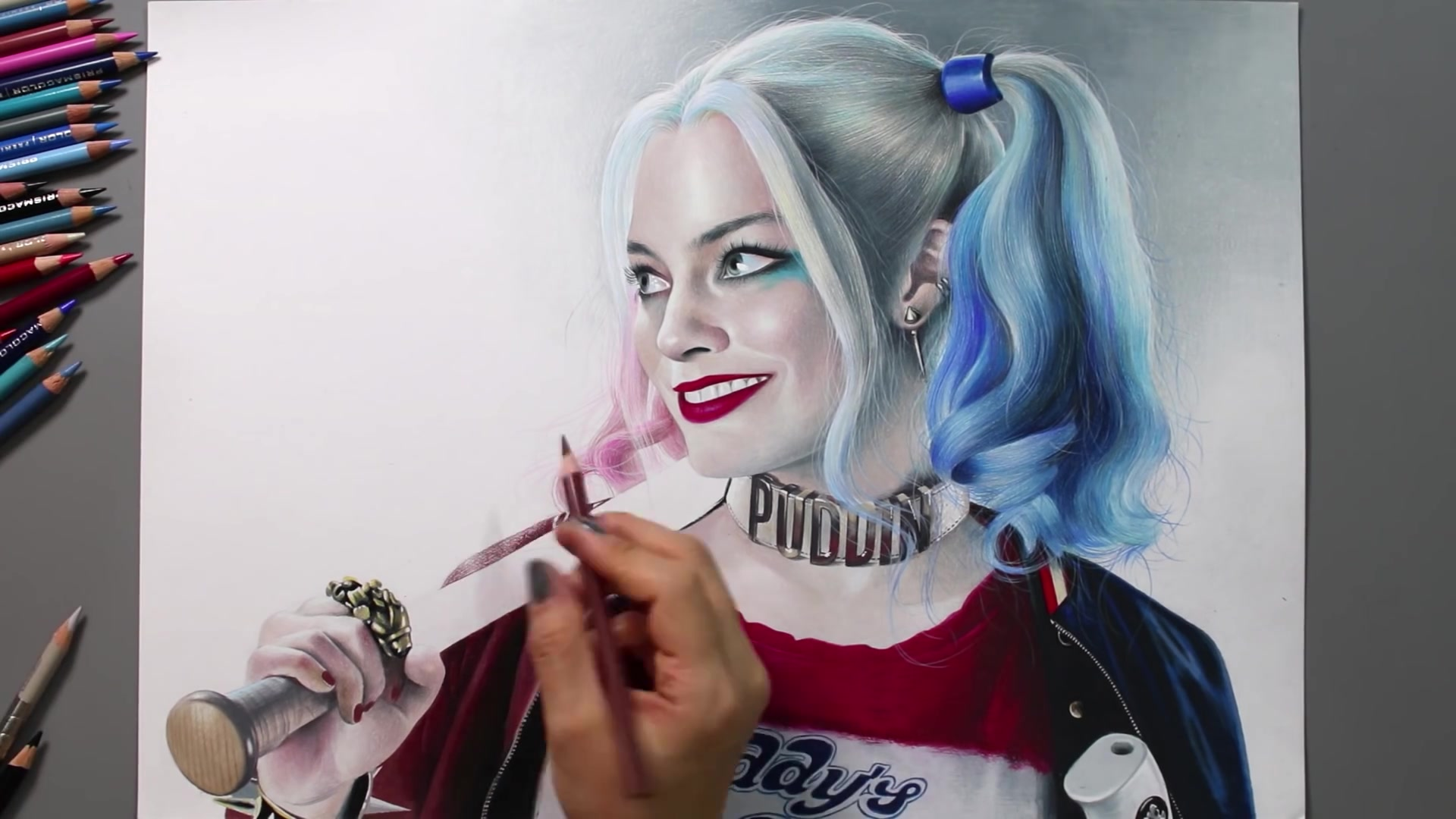 Drawing Hands Episode 63: Speed Drawing Suicide Squad's Harley Quinn