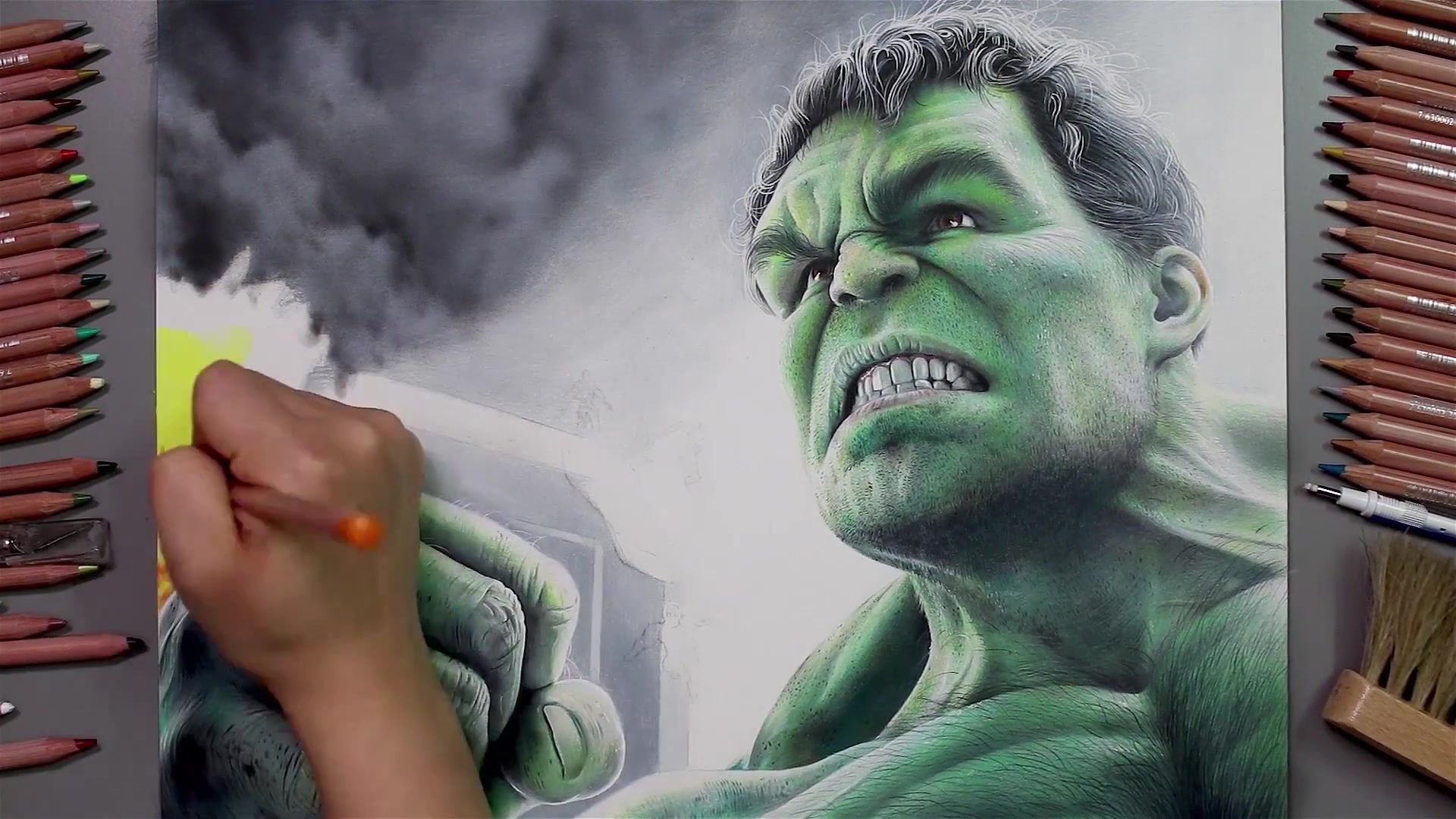 Drawing Hands Episode 65: Speed Drawing Marvel's Hulk