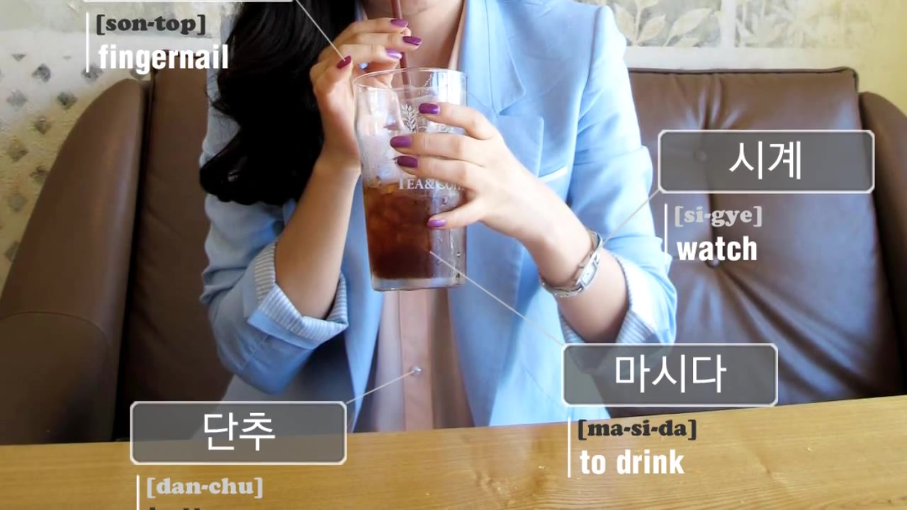 TalkToMeInKorean Episode 114: Korean Vocabulary With Pictures #11: Fingernail, Hair, Watch, To Drink, Button