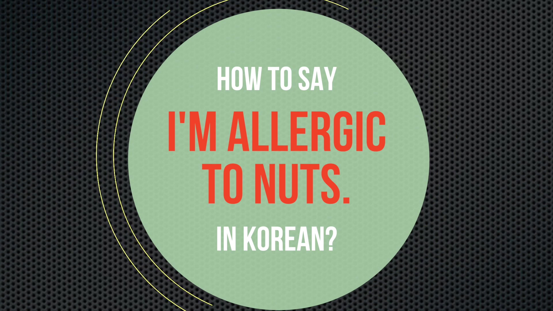 TalkToMeInKorean Episode 124: One-Minute Korean: 'I'm Allergic to Nuts.'