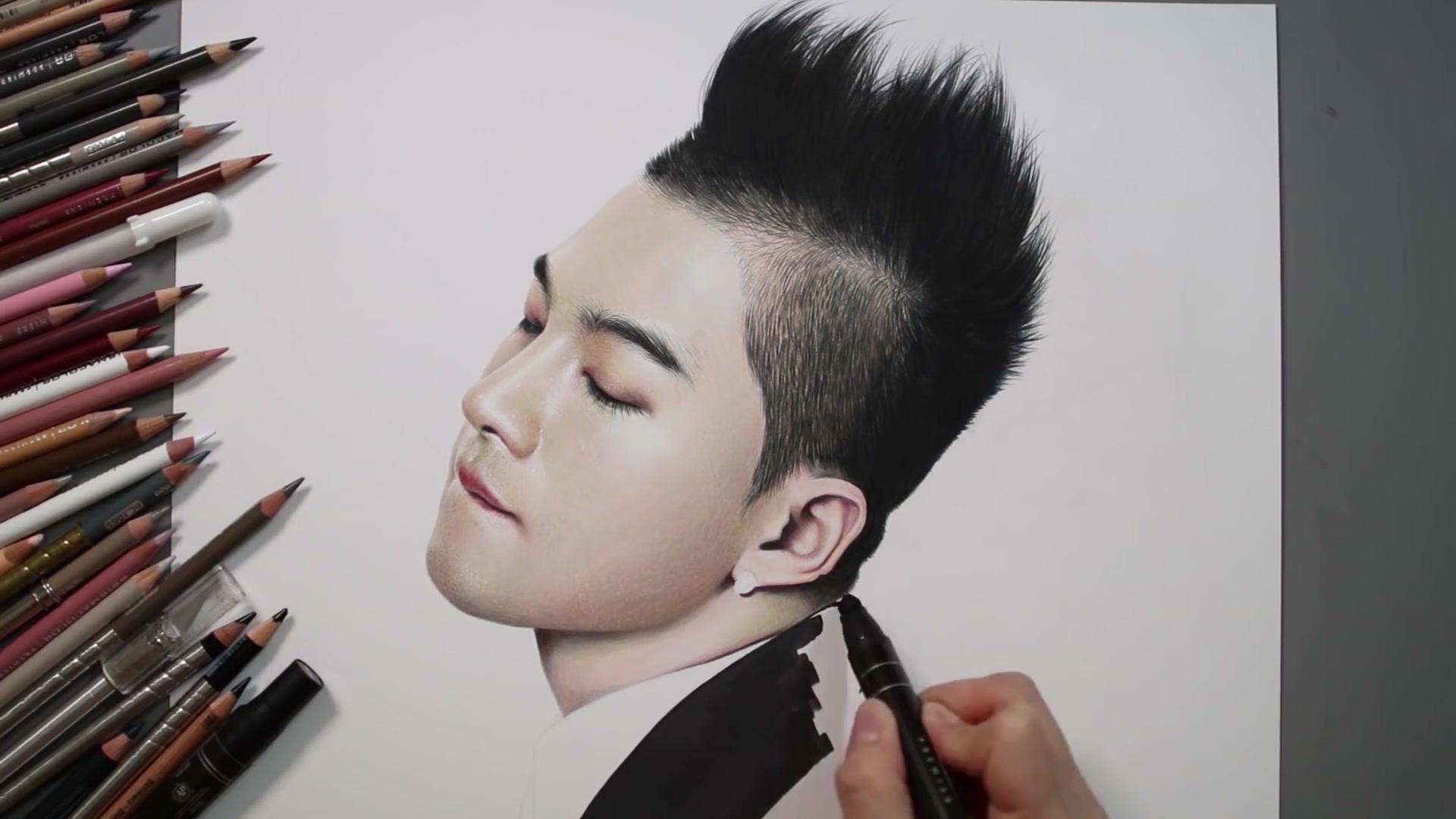 Drawing Hands Episode 66: Speed Drawing BIGBANG's Taeyang
